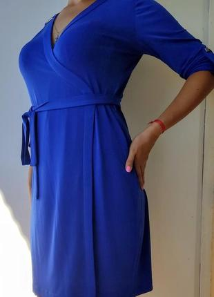 Шикарное нарядное платье цвета электрик