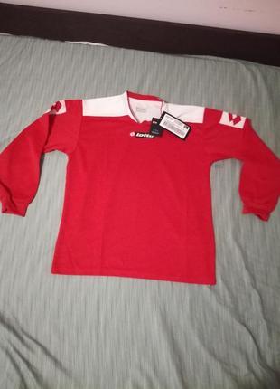Нова футбольна підліткова форма - кофта на довгий рукав  lotto xl футбольная футболка