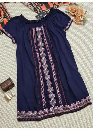 Платье вышиванка new look/вискоза