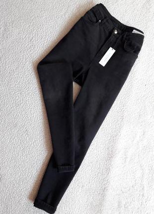 Джинсы mom jeans высокая посадка