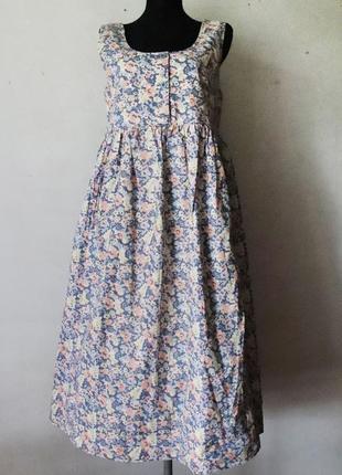 Хлопковое платье laura ashley оверсайз