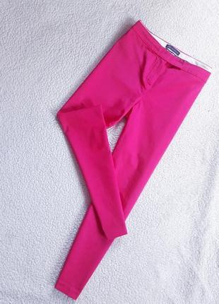 Зауженные коттоновые брюки