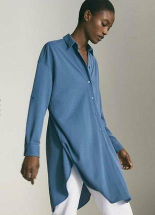 Рубашка удлиненная, платье, massimo dutti