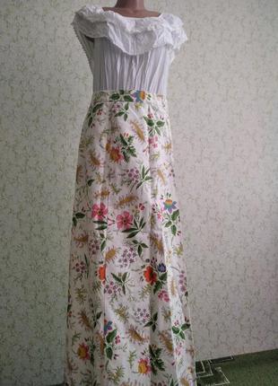 Винтажная юбка и блуза, ретро.