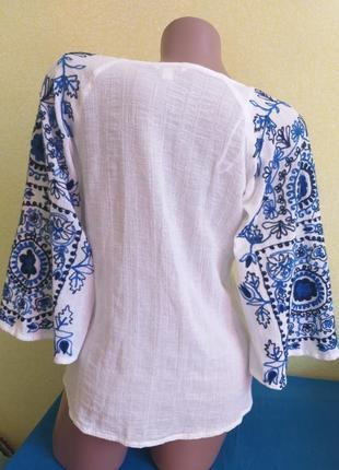 Блузка в стиле вышиванки 100% хлопок