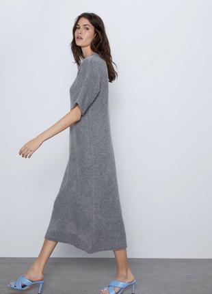 Теплое шерстяное платье миди zara