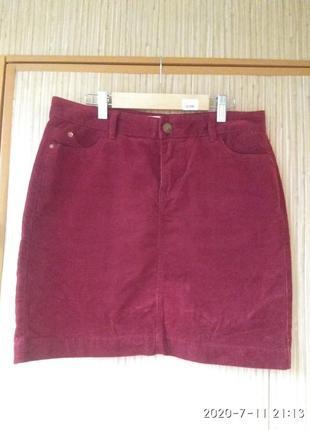 Юбка велюровая,юбка вельветовая ,бордовая, спідничка колекції indigo,мини юбка