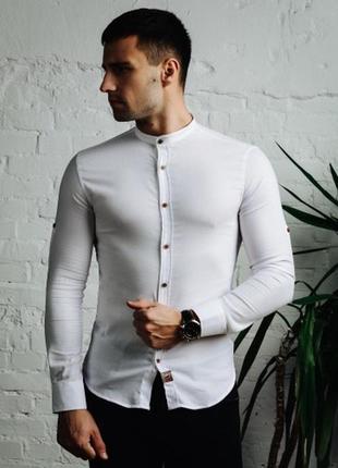 Рубашка шелби круглый ворот   воротник слимфит