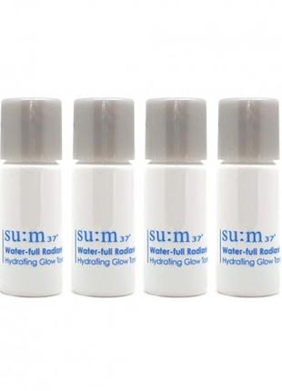 Увлажняющий тонер для сияния кожи su:m37° water-full radiant hydrating glow toner, люкс