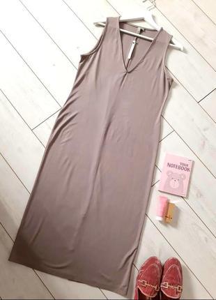 Миннималистическое длинное платье прямого силуэта_трикотаж..# 445