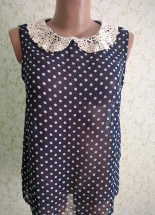 Винтажная блуза с воротничком