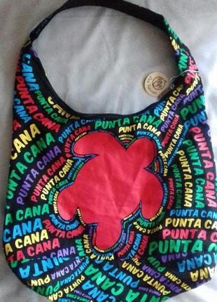Пляжная сумка с принтом ткань