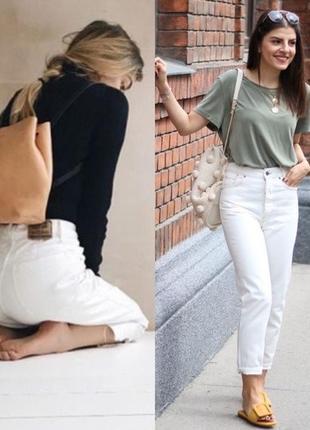 Біленькі мом джинси балони