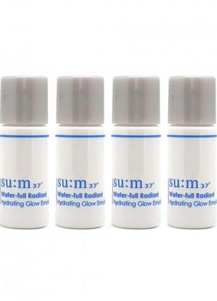 Эмульсия для сияния кожи su:m37˚water-full radiant hydrating glow emulsion, корейский люкс