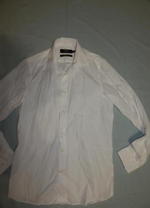 """Рубашка моднаяя белая s 15.9"""" 39 см"""