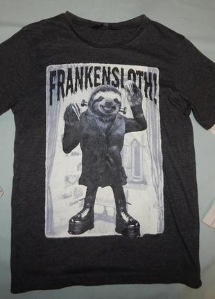 Реглан футболка с длинным рукавом модный на мальчика 9-10 лет 136-140 см