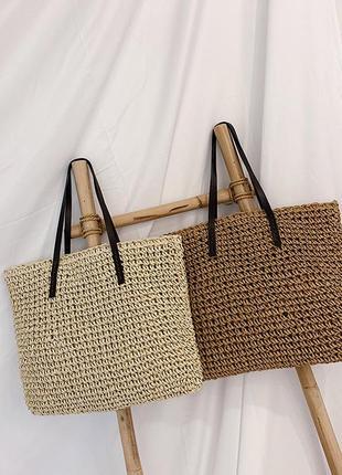 Женская плетенная соломенная сумка