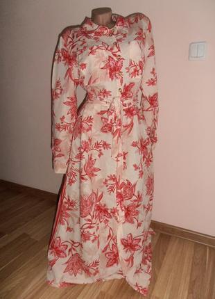 Суперовое льняное платье миди