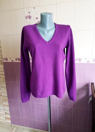 Кашемировый джемпер фиолетовый, кофта , свитер,  фирменный benetton