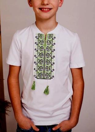 Акция скидка футболка с вышивкой вышиванка для мальчика размеры от 2-х до 12 лет