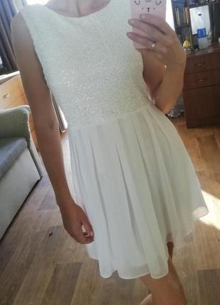 🔥распродажа! платье с пайетками, сукня, сарафан, плаття, шифоновой юбкой