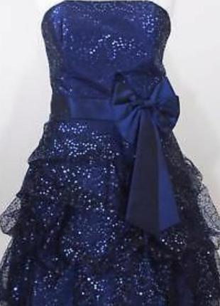 Весерние платье выпускное s 38 44 випускна сукня пайетках випускна вечерние коктейльное