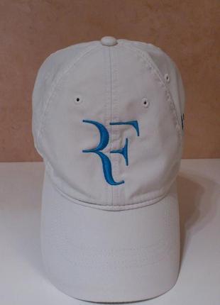 Кепка бейсболка белая летняя спортивная теннисная коллекционная nike golf roger federer rf