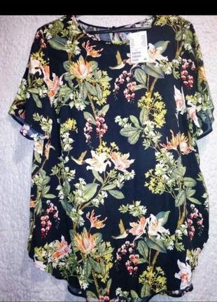 Новая блузка в цветоеый принт