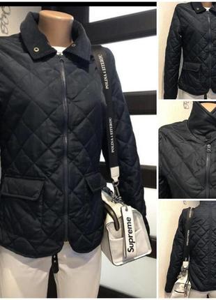 Стильная стеганая куртка парка пиджак жакет
