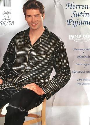 Сатиновая пижама/ костюм для дома/ брюки и рубашка
