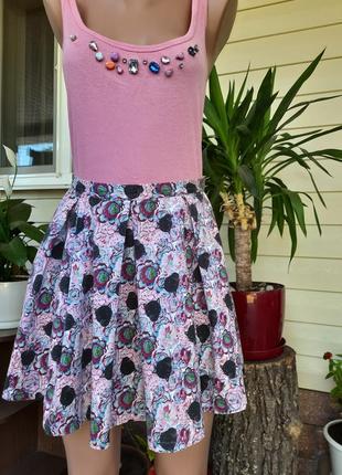 Хлопковая юбка-солнце