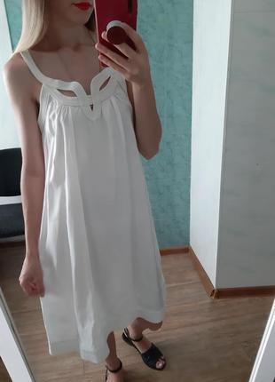 Шикарное белое, біле платье свободного кроя в греческом стиле