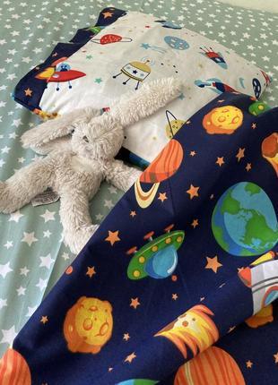 Постельное белье для детей космос хлопок