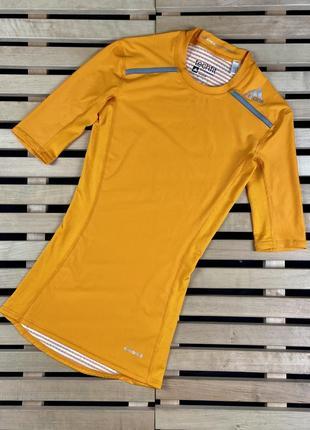 Супер крутая мужская футболка для занятий спортом adidas techfit размер s