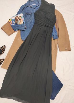 Veromia платье длинное в пол макси серое новое