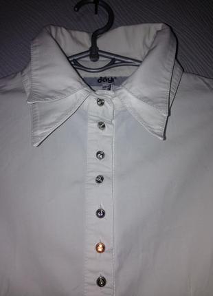 Рубашка белая с двойным воротником