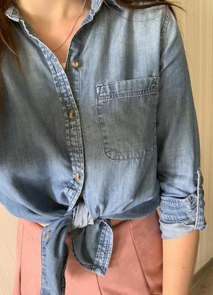 Джинсовая рубашка, блуза, блузка, топ
