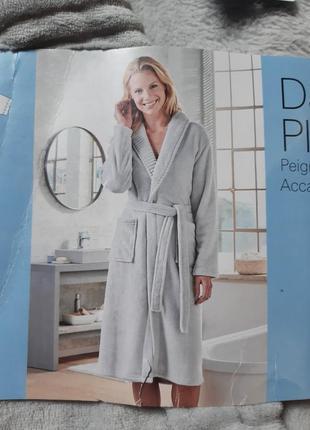 Плюшевый халат банный, м 40-42, premium качество, blue motion, германия