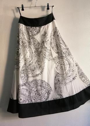 Длинная,хлопковая, летняя юбка laura ashley,оригинал, размер xs,s, м, 8, 34