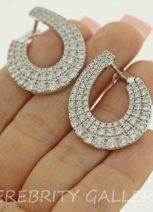 10% скидка - подписчикам! красивые серьги серебряные. e 2860р w срібні сережки