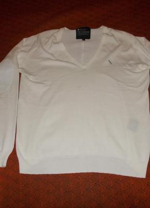 Белый джемпер  люксового бренда acne action jeans