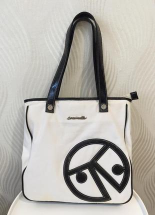 Текстильная сумка coccinelle сумка шоппер тоут