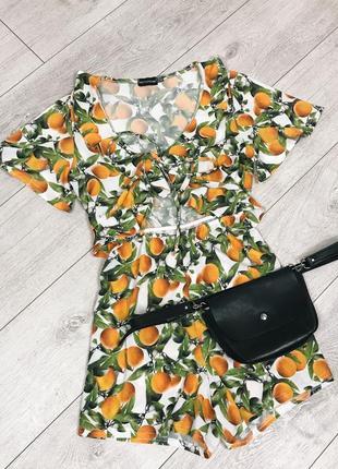 Ромпер с апельсинами prettylittlething