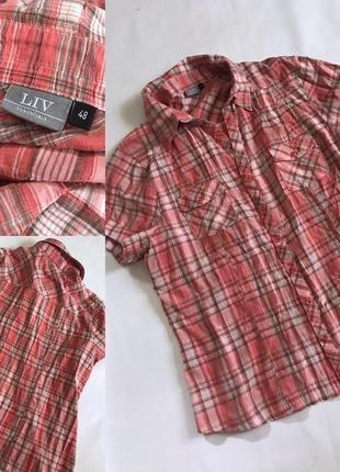 Натуральная рубашка блузка