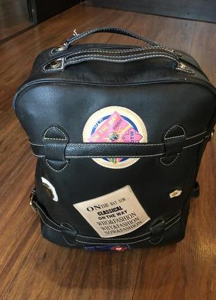Чёрный рюкзак/портфель