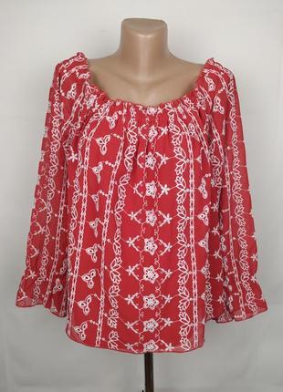 Блуза новая стильная шифон вышивка miss selfridge uk 16/44/xl
