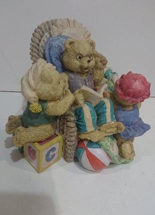 Винтаж из англии. статуэтка мишки.