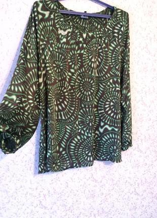 Шифоновая блуза с длинным рукавом