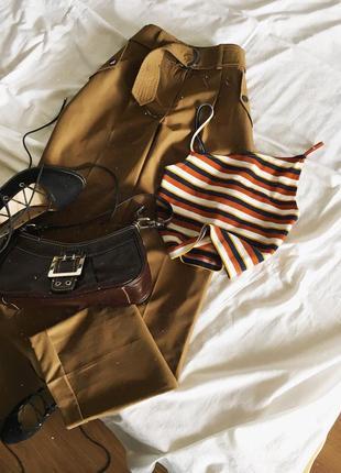 Кемел брюки з поясом primark