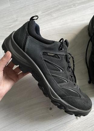 Кожаные термо кроссовки ботинки ecco
